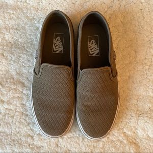 Vans Army Green Slip On